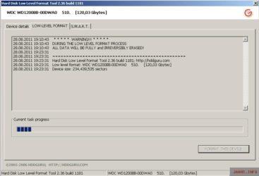 Что такое низкоуровневое форматирование жесткого диска?