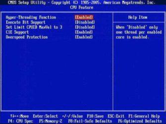 Как включить многопоточность процессора?